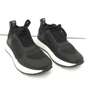 Miu Miu Maglia Tech Black Sparkle Sneakers